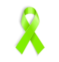Lime Awareness Ribbon vector