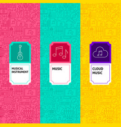 line music package labels vector image