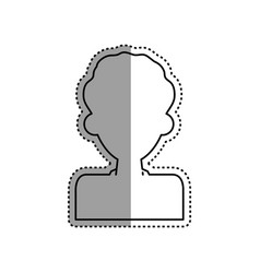 man male silhouette vector image