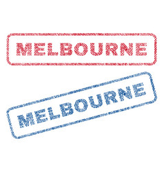 Melbourne textile stamps vector