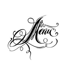 Menu inscription vector image