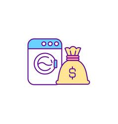 Money laundering rgb color icon vector
