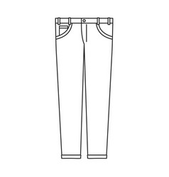 monochrome silhouette of male pants vector image