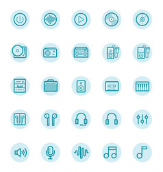 music outlines vector image
