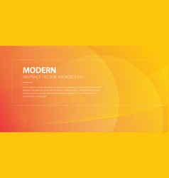 orange abstract modern background with wavy lines vector image