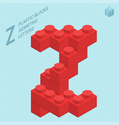 Plastic blocs letter z vector