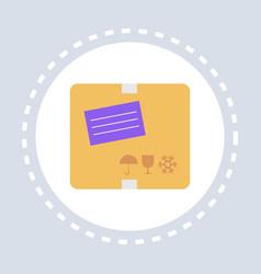 post stamp envelope mail address letter shopping vector image