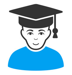 professor flat icon vector image