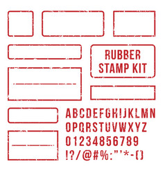 Rubber stamp letters red stamps frame vector