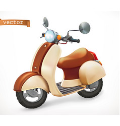 Scooter 3d realistic icon vector