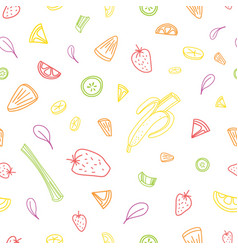 Seamless pattern with slices or pieces of tasty vector