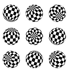 Set minimalistic shapes black and white vector