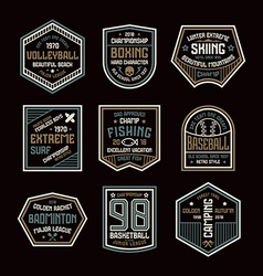 Set of sports badges vector