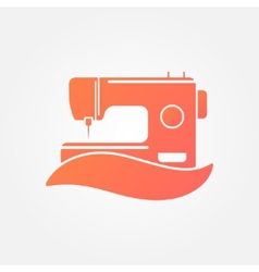 Sewing machine logo - symbol vector