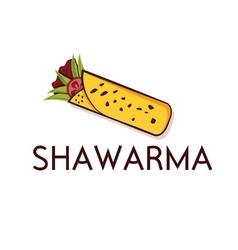 Shawarma design template vector