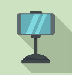 Smartphone car holder icon flat style vector