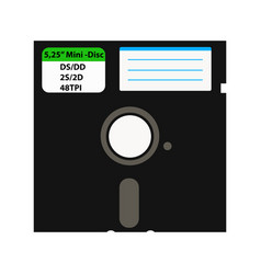The floppy disk in the 525-inch is used in older vector