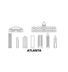 United states atlanta line travel skyline set vector
