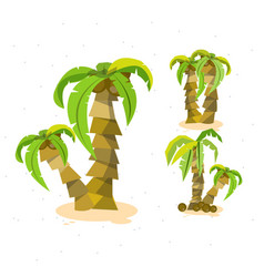 vacation coconut background - set coconut tree vector image