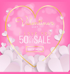 Valentines day sale background calligraphy and vector
