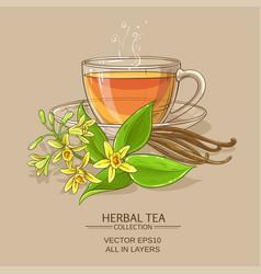 Vanilla tea vector