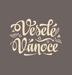 Vesele vanoce xmas in the czech republic vector