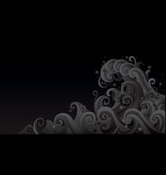 wave minimal black vector image