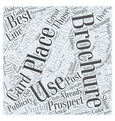 Ways to Distribute Your Brochures Word Cloud vector