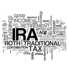 what is an ira text word cloud concept vector image