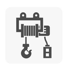 Winch icon black vector