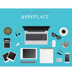 Working place in flat design Constructor of your vector image