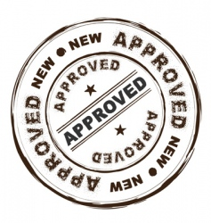 approved ink stamp vector image vector image