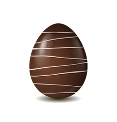 Chocolate egg isolated on white background vector image vector image