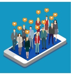 Concept of business social networking vector image vector image