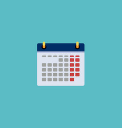 Flat icon date element of vector