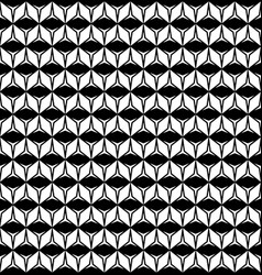 Geometric texture with rhombuses triangles rows vector
