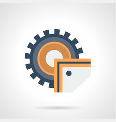 industrial saw flat color icon vector image
