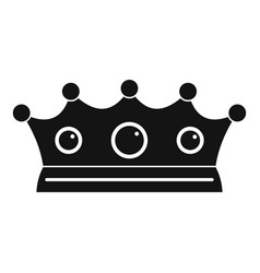 jewelry crown icon simple style vector image vector image