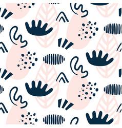 scandinavian hand drawn seamless pattern vector image vector image