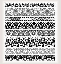 Vintage borders vector image vector image