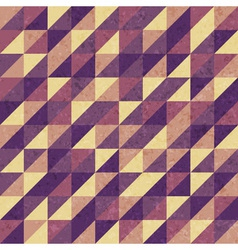 Vintage geometric Retro pattern vector image vector image