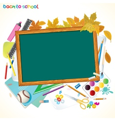 back to school background with copy space vector image