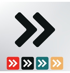 double arrows icon vector image