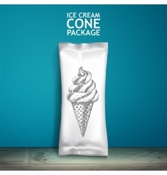 Empty packaging design for ice cream or other vector image vector image