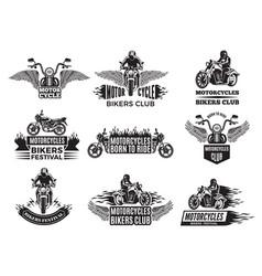 motorbike logos for bike club vector image vector image