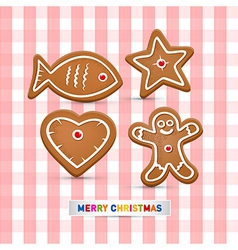 Abstract Merry Christmas Background Gingerbread vector image vector image