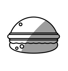 burger food picnic shadow vector image vector image
