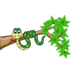funny snake cartoon vector image vector image