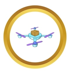 Quadcopter icon vector image vector image