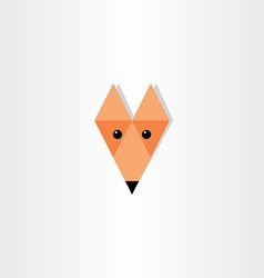 triangles fox head icon design vector image vector image